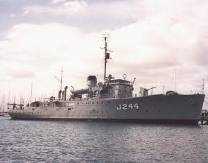 The former RANR training ship, HMAS Castlemaine.