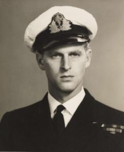 Lieutenant Philip Mountbatten, circa 1944.