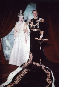 The Queen and the Duke pose for a coronation portrait in June 1953.