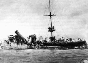 Wreck of SMS Emden at North Keeling Island, November 1914.