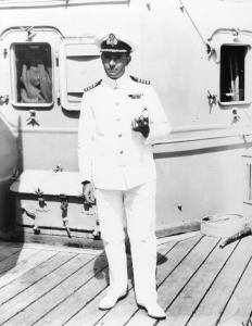 Captain Harold Farncomb, RAN, was captain of HMAS Australia during the Battle of the Coral Sea.