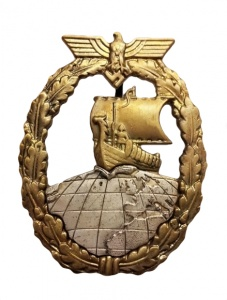 German auxiliary cruiser war badge.