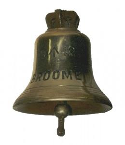 HMAS Broome's ship's bell.
