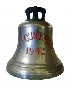 HMAS Quickmatch's ship's bell is now on display in the Naval Heritage Collection