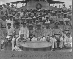 HMAS Pioneer ship's company in German East Africa.