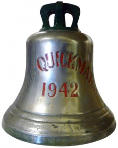 HMAS Quickmatch's ship's bell is now on display in the Naval Heritage Collection.