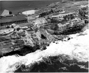 The seaward cliff-face at HMAS Watson.