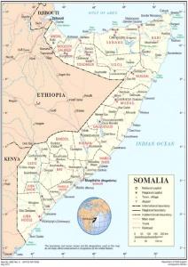 Map of Somalia.