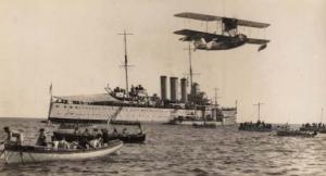 HMAS Canberra at the Hobart Regatta, February 1934.