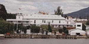 HMAS Huon on the Derwent River, Hobart.