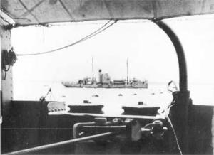 HMAS Gunbar as seen from the deck of HMAS Kara Kara.