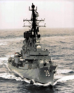 HMAS Hobart (II) as she appeared following her 1984-85 refit.