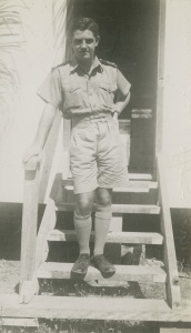 Sub Lieutenant Bevan Mitchell at Port Moresby shortly before being posted to HMAS Narani.