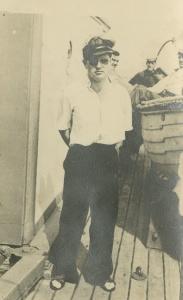 Sub Lieutenant Bevan Mitchell aboard HMAS Paterson.