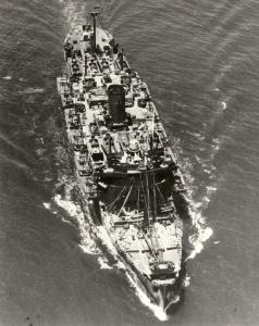 HMAS Kanimbla entering Brisbane in 1944.