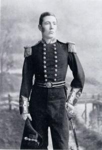 Lieutenant WR Creswell in full dress uniform, circa 1873.