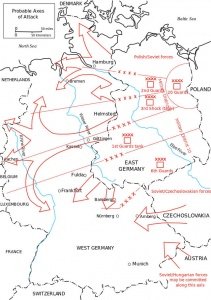 Russian Army plan to invade Western Europe.