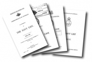 Various Navy List covers.