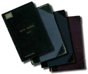 Various covers of the Commonwealth Naval Orders.
