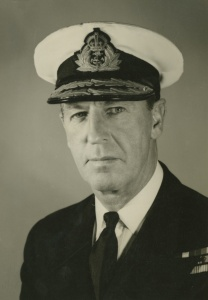 Rear Admiral GC Oldham, CBE, DSC, RAN who commanded Warramunga 1946-48.