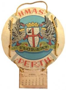HMAS Perth (I)'s calendar for 1942.