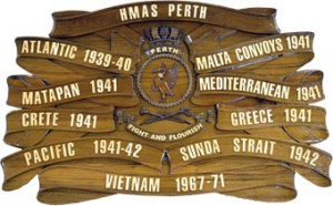 HMAS Perth battle honours.