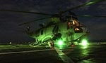 Helicopter conducting night operations.