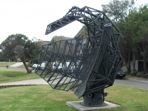 A radar array now on display in the HMAS Watson grounds.