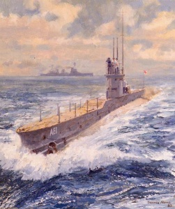 HMA Submarine AE1 on patrol in waters off New Britain. (Dennis Adams 1983)