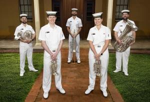RAN Band Sydney Brass Quintet 2021.