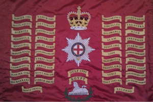 The Colours of the 1st Battalion Coldstream Guards.