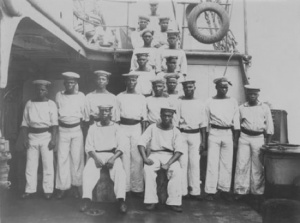 African sailors seconded to HMAS Pioneer's crew.
