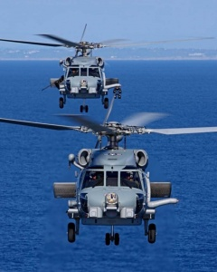 US Navy Sikorsky MH-60R Seahawks.