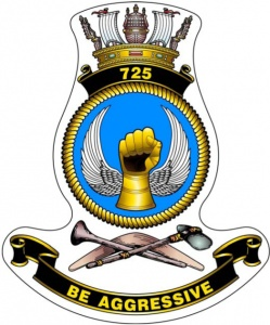 The 725 Squadron badge.