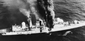 HMS Sheffield.