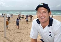 Physical Trainers working hard on Bondi Beach.