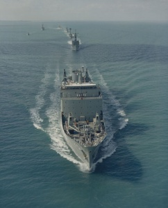 Stalwart leads her task group in northern waters.