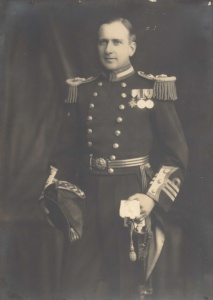 Surgeon Commander L Darby in full-dress uniform, circa 1922. (HMAS Cerberus Museum)