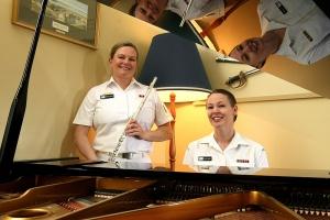 RAN Band Tasmania Flute and Piano Duo.