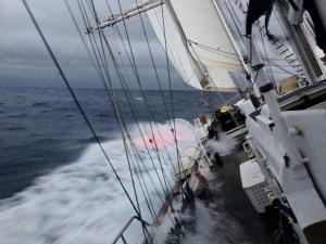 Sailing south through the Bass Strait en route to Tasmania, 2018.