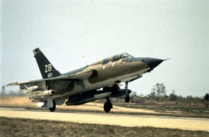 An F105 Thunderchief about to conduct a SEAD Mission. About half the entire USAF F105 Force was lost in Vietnam.