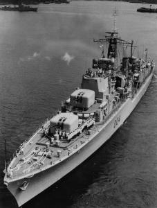 HMAS Voyager in Sydney Harbour.