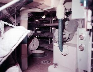 Bunks replaced hammocks in messdecks in the Daring Class, improving onboard habitability.