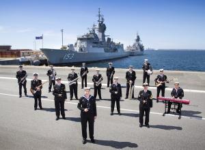 Royal Australian Navy Band Western Australia Big Band at HMAS Stirling in Western Australia.