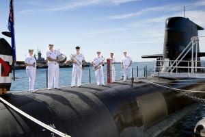 Royal Australian Navy Band Western Australia Jazz Ensemble at HMAS Stirling in Western Australia.