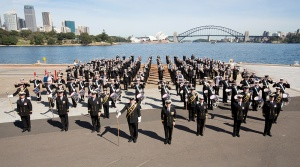 Royal Australian Navy Band during the International Fleet Review 2013, Sydney.