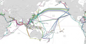 Figure 1: Submarine Cable Network - Pacific and Indian Oceans (TeleGeography)