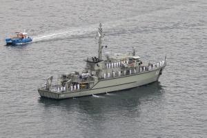 HMAS Norman (II) at anchor during Fleet Divisions