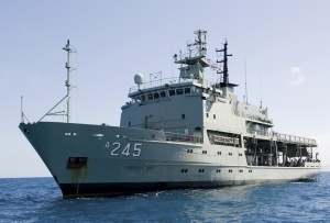 HMAS Leeuwin at sea
