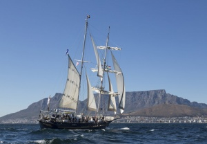 STS Young Endeavour arrives in Cape Town to complete Voyage 7 of the 2015 World Voyage.